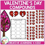 Compound Word Board Valentine's Day ~Digital Download~